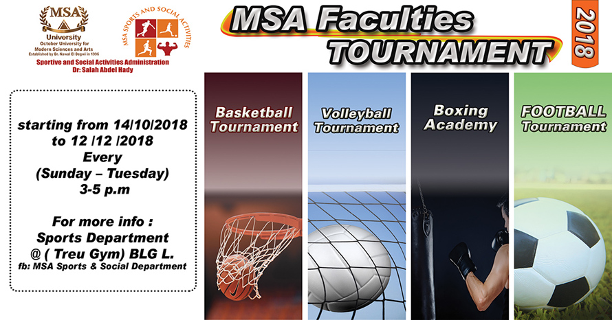 MSA University - Sports & Social Plan - Fall 2018