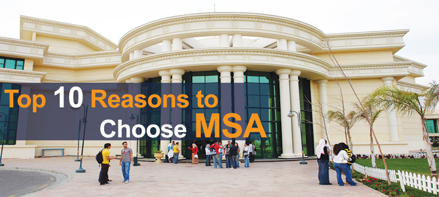 MSA University - Top 10 reasons to choose MSA