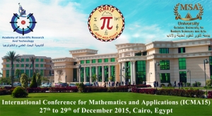 International Conference for Mathematics & Applications (ICMA15)