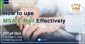 How to use MSA E-Mail effectively session